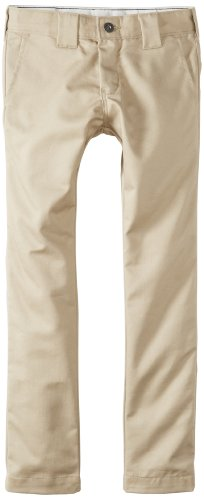 Dickies Big Boys' Skinny Straight Pant, Khaki, 18
