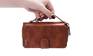 "iPhone 6s Plus / iPhone 6 Plus Case, DRUnKQUEEn® Premium Zipper Wallet Leather Detachable Magnetic Case Purse Clutch with Black Flip Credit Card Holder Cover for iPhone 6Plus iPhone 6sPlus (5.5"") from DRUnKQUEEn"