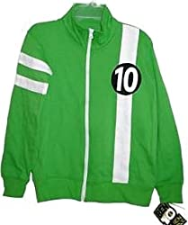 Cartoon Network Licensed Ben 10 Alien Force Child Ben Tennyson Lime Green Track Jacket Sweatshirt