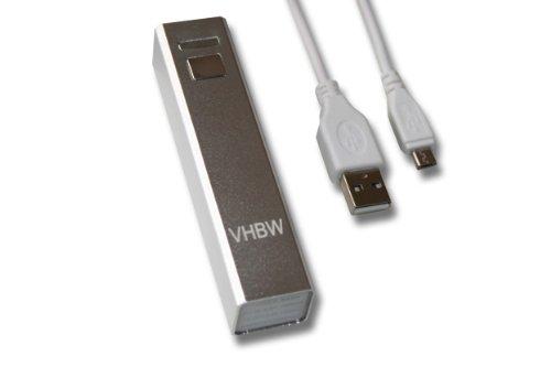 vhbw BACKUP AKKU 2200mAh silber für LG Optimus L4 II E440, F5 P875, L5 II E460, E430 L3 II, G E975, L7 II P710, Samsung Rex 60, 70, GT-C3310, GT-S3800