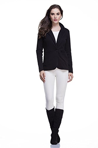 Femella Women's Blazer (DS-1308271-832_Black_Medium)