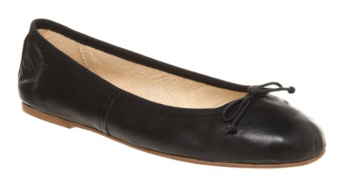 Office Academic Ballerina Black Leather - 5 Uk