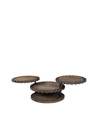 Bassett Mirror Company Sprockets Cocktail Table, Weathered Oak