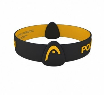 HEAD Health Gear Polarity NEO Magnetic Therapy negative ion wristband (Black, medium 18cm)