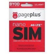 Page Plus Cellular 4g LTE Nano Sim Card Starter Kit for Verizon Iphone 5c HTC One M8 Iphone 6+ (Verizon Prepaid Starter Kit compare prices)