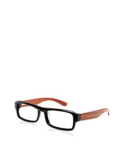 Ivory + Mason Women's St. Ives Eyeglasses, Black/Cherry