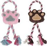 ミニパウ ピンク/ブラウン ドッグトイ 犬のおもちゃ (ピンク)