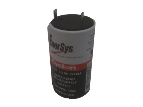 Enersys (Hawker) Cyclon 0810-0004 D-Cell 2 Volt/2.5 Amp Hour Sealed Lead Acid Battery