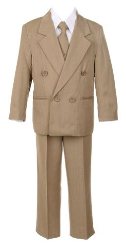 Sweet Kids Boys 5 Pc Double Breasted Suit
