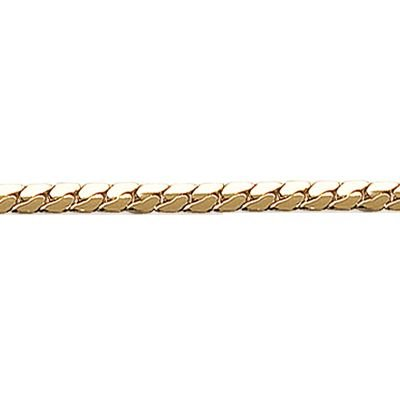 So Chic Jewels - 18K Gold Plated 18 Cm Convex 2.5 Mm Cuban Link Chain Bracelet