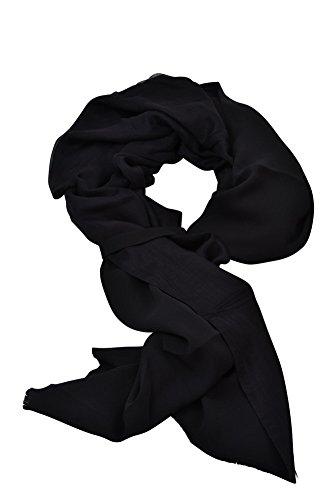 agnona-scarf-black-silk-cashmere-200-cm-x-69-cm