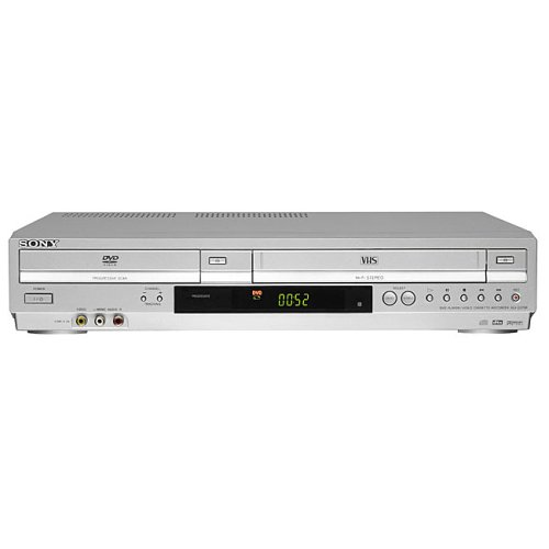 sony dvd vhs combo player sony slv d350p silver dvd player 4 head vcr. Black Bedroom Furniture Sets. Home Design Ideas