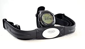 Buy GSI Super Quality All-In-One Waterproof Heart Rate Monitor Watch and Transmitter Chest Belt - For Exercise, Sports,... by GSI