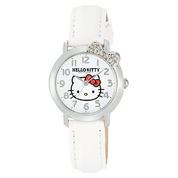Hello Kitty Crystal Ribbon Watch (White)