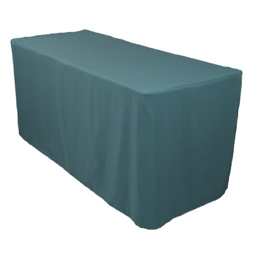 4 Foot Fitted Polyester Tablecloth Hunter Green