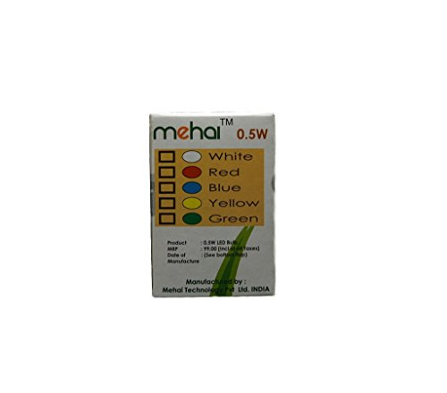 Mehai-0.5-W-Plastic-LED-Bulb(Multi-Color,-Pack-Of-5)