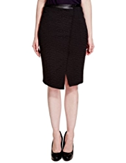 Limited Edition Asymmetric Jacquard Pencil Skirt