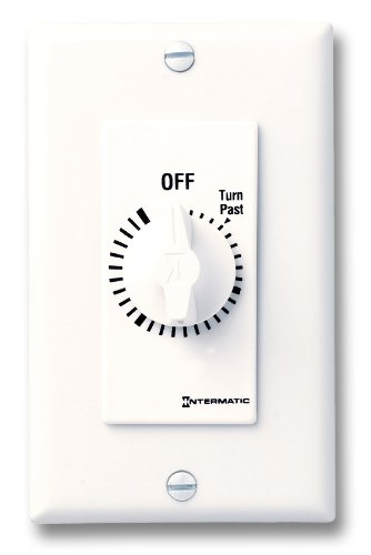 Intermatic Fd34Hw 4-Hour Spring Loaded Wall Timer, White