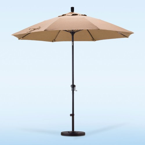 Fiberglass Market Umbrella - Import Olefin - Push Tilt by California Umbrella