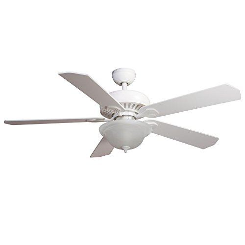 Harbor Breeze Crosswinds 52-in White Downrod or Flush Mount Indoor Ceiling Fan with Light Kit and Remote (Harbor Breeze 52 compare prices)