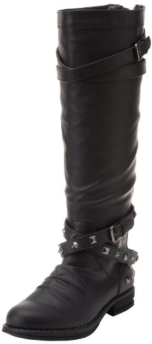Madden Girl Women's Zerge-S Knee-High Boot,Black Paris,8.5 M US