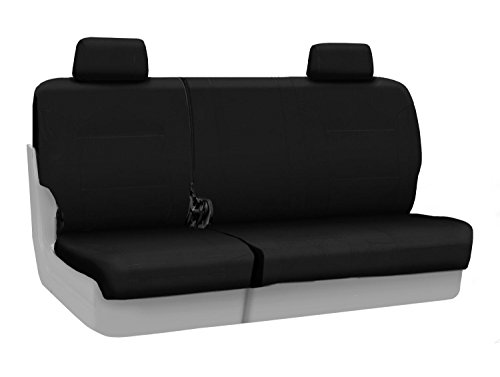 Coverking Custom Fit Rear 60/40 Bench Seat Cover For Select Jeep Liberty Models - Ballistic (Black) front-1054128