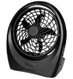 """10"""" Swivel Battery Operated Fan with AC Adapter"""