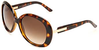 GUCCI Women's GG3534S Oval Sunglasses,Havana Frame/Brown Gradient Lens,One Size