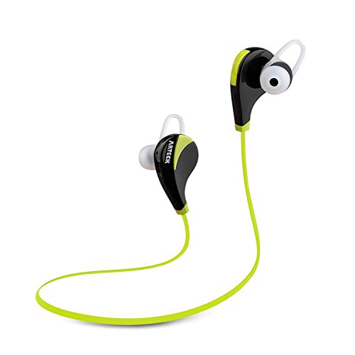 Click to buy Arteck Wireless Bluetooth Sport Headphones w/Mic for Running Sports Earbuds with 5-Hour Playing Battery for iPhone iPod Android Smart Phones-Green - From only $17.97