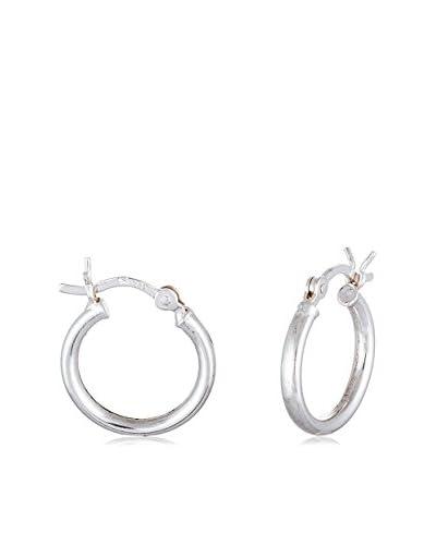 Bliss French Lock Sterling Silver Huggie Hoop Earrings