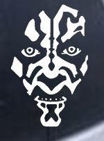 NI296 Star Wars Darth Maul Car Window Wall Laptop Decal Sticker | Premium Quality White Vinyl Decal | 5.5-Inches By 3.5-Inches (Home Made Lightsaber compare prices)