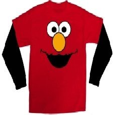 Elmo Face Boys Twofer Long Sleeve T-Shirt, Red, Youth Large 7