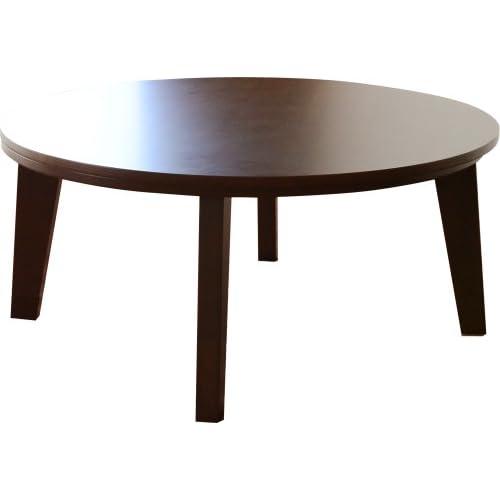 エムール タモ材突き板 こたつテーブル 円形 約直径80cm