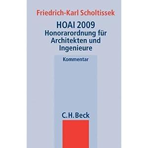 HOAI 2009: Honorarordnung für Architekten und Ingenieure