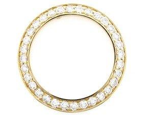 Ladies 1.65ct Diamond Bezel for Datejust Rolex Yg