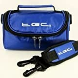 TGC ® Sat Nav GPS Case/Bag for TomTom Via 135 M with shoulder strap and Carry Handle (Blue)