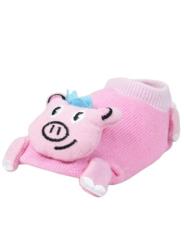 Girls Pig Baby Animal Booties by Wild Habitat