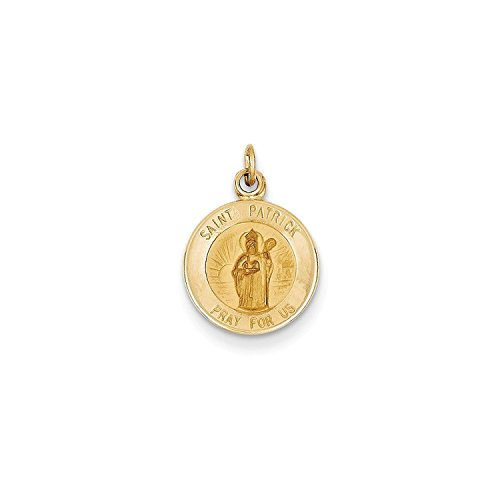 14k-yellow-gold-engravable-saint-patrick-medal-charm-07in-long-x-05in-wide