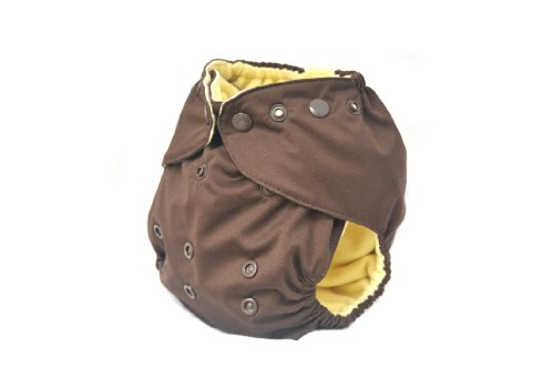 Kissa'S One Size All-In-One Diaper, Chocolate front-450373