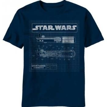 Star Wars Saber Diagram Mens Navy T-Shirt | Xxl