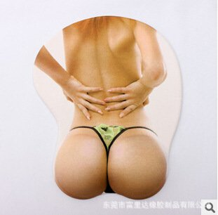 Stereoscopic big boobs sexy silicone breast mouse pad , #2
