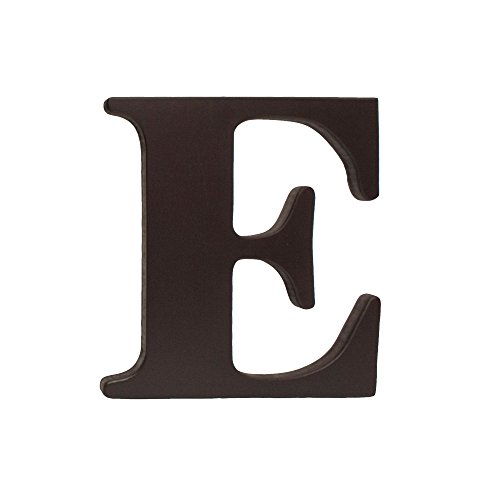 Dark Brown Uppercase Wood Letter E Wall Hanging (Espresso Wall Letters compare prices)