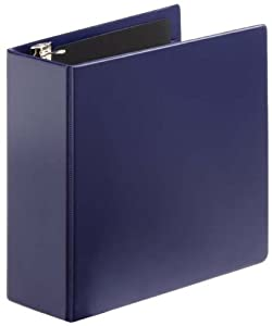 Cardinal by TOPS Products SuperStrength Locking Slant-D Ring Reference Binder, 4 Inch Capacity, Navy (11847)