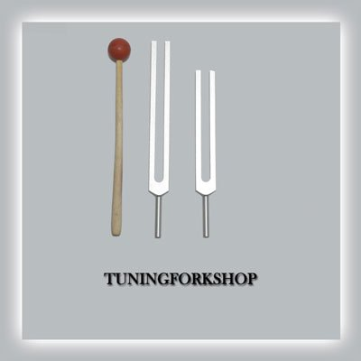 High Om 272.20 & 544.40 Hz Tuning Fork for Healing with Mallet+pouch
