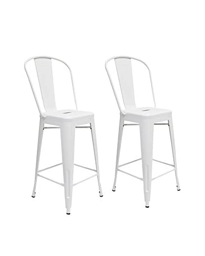 Aeon Set Of 2 Garvin Counter Stools, White