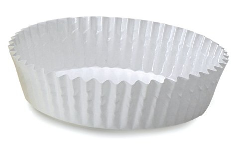 Welcome Home Brands Baking Cups, Quiche/Tart Bakers White, 3.9-Inch Diameter by 1.2-Inch Height, One Case of 1500 Units