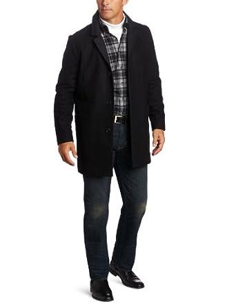 Nautica诺帝卡男士羊毛混纺商务休闲大衣Men's Button-Front Coat  $