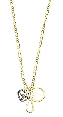 buy Gold Tone Longhorn In Rope Heart Gold Tone Karma Infinity Necklace