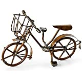 Mini Bicycle, Antiqued Fairy Garden Rustic Accessories Bike Village Pieces Decoration