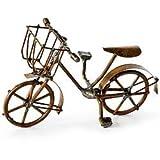Mini Bicycle, Antiqued Fairy Garden Rustic Accessories Bike Village Pieces Decoration